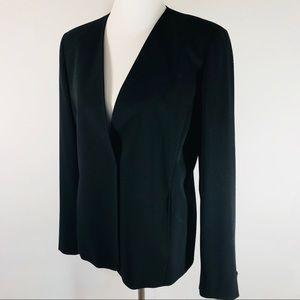 Max Mara Black Blazer Size 12 100% Wool